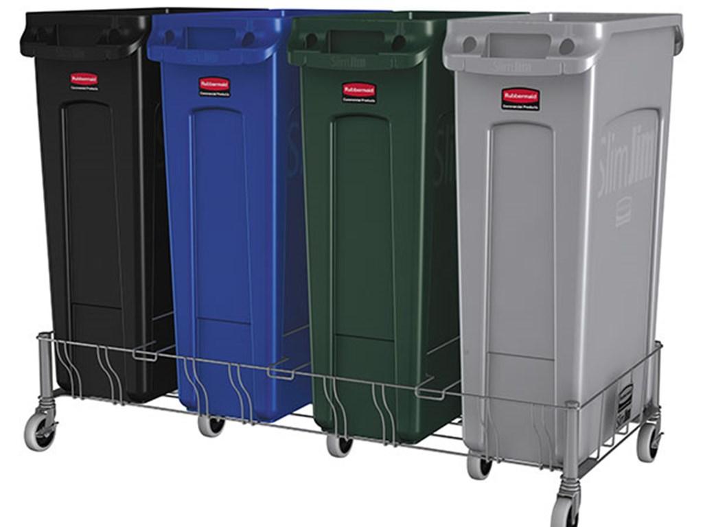 Slim Jim® Vented Containers | Vented Slim Jim® 23 Gal Gray | RCP